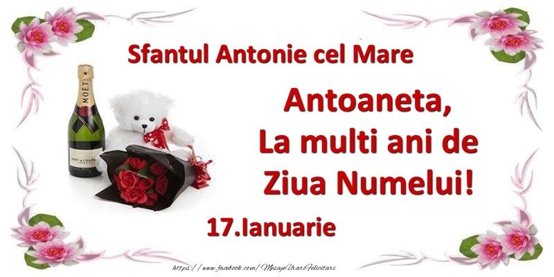 Cele mai apreciate felicitari de Sfantul Antonie cel Mare - Antoaneta, la multi ani de ziua numelui! 17.Ianuarie Sfantul Antonie cel Mare