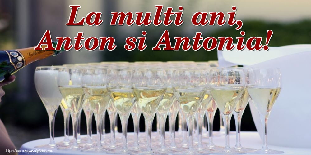 Felicitari de Sfantul Antonie cel Mare - La multi ani, Anton si Antonia!