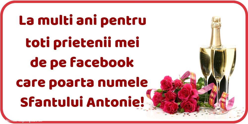 Felicitari de Sfantul Antonie cel Mare - La multi ani pentru toti prietenii mei de pe facebook care poarta numele Sfantului Antonie!