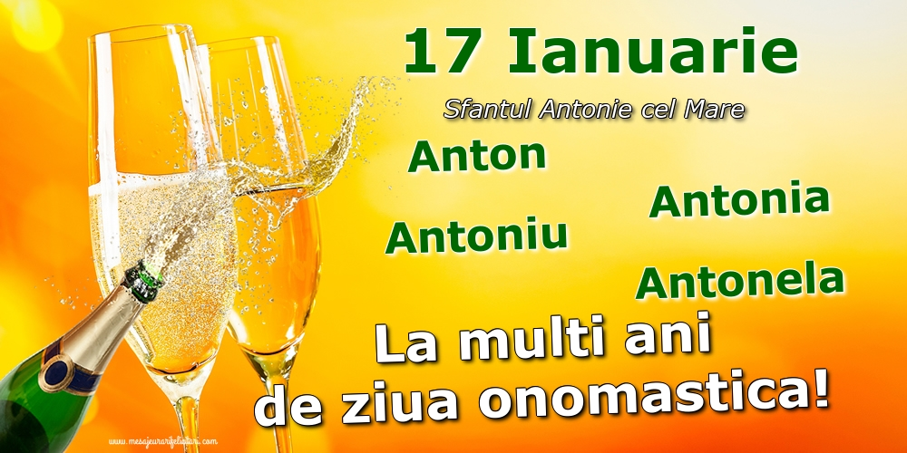 Sfantul Antonie cel Mare 17 Ianuarie - Sfantul Antonie cel Mare