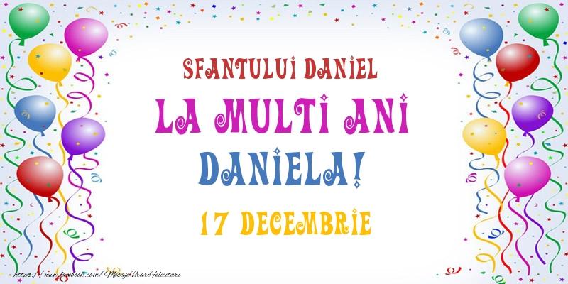 Felicitari de Sfantul Daniel - La multi ani Daniela! 17 Decembrie