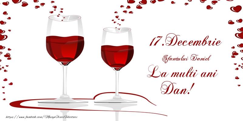 Felicitari de Sfantul Daniel - 17.Decembrie La multi ani Dan!