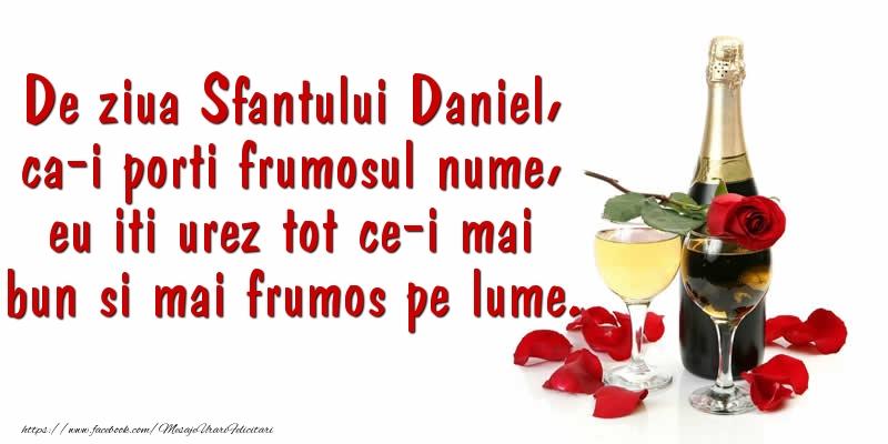 Felicitari de Sfantul Daniel cu sampanie - De ziua Sfantului Daniel ... La multi ani!
