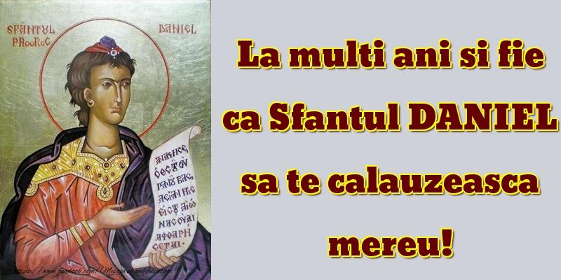 Felicitari de Sfantul Daniel - La multi ani