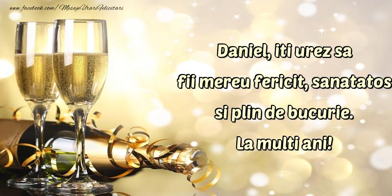 Felicitari de Sfantul Daniel cu sampanie - La multi ani!