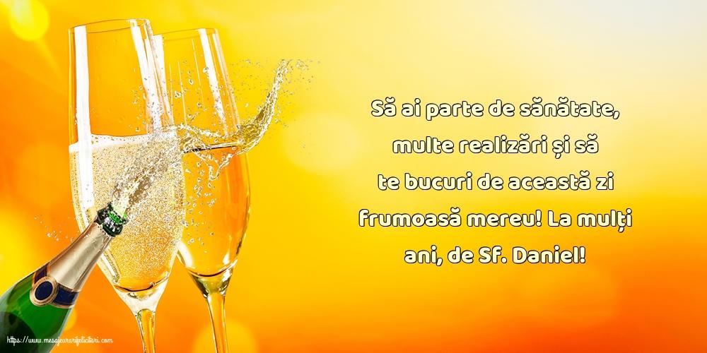 Felicitari de Sfantul Daniel - La mulți ani, de Sf. Daniel!