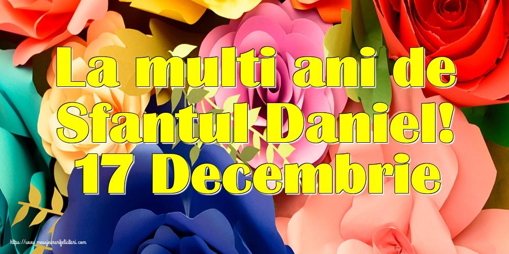 Felicitari de Sfantul Daniel - La multi ani de Sfantul Daniel! 17 Decembrie