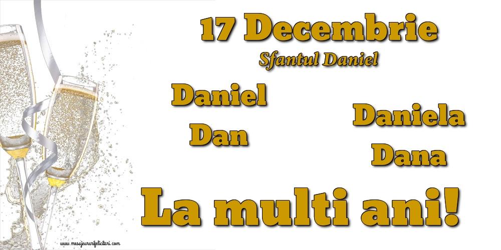 Felicitari de Sfantul Daniel - 17 Decembrie - Sfantul Daniel
