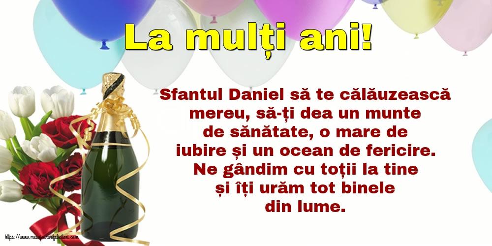 Felicitari de Sfantul Daniel - La mulți ani!