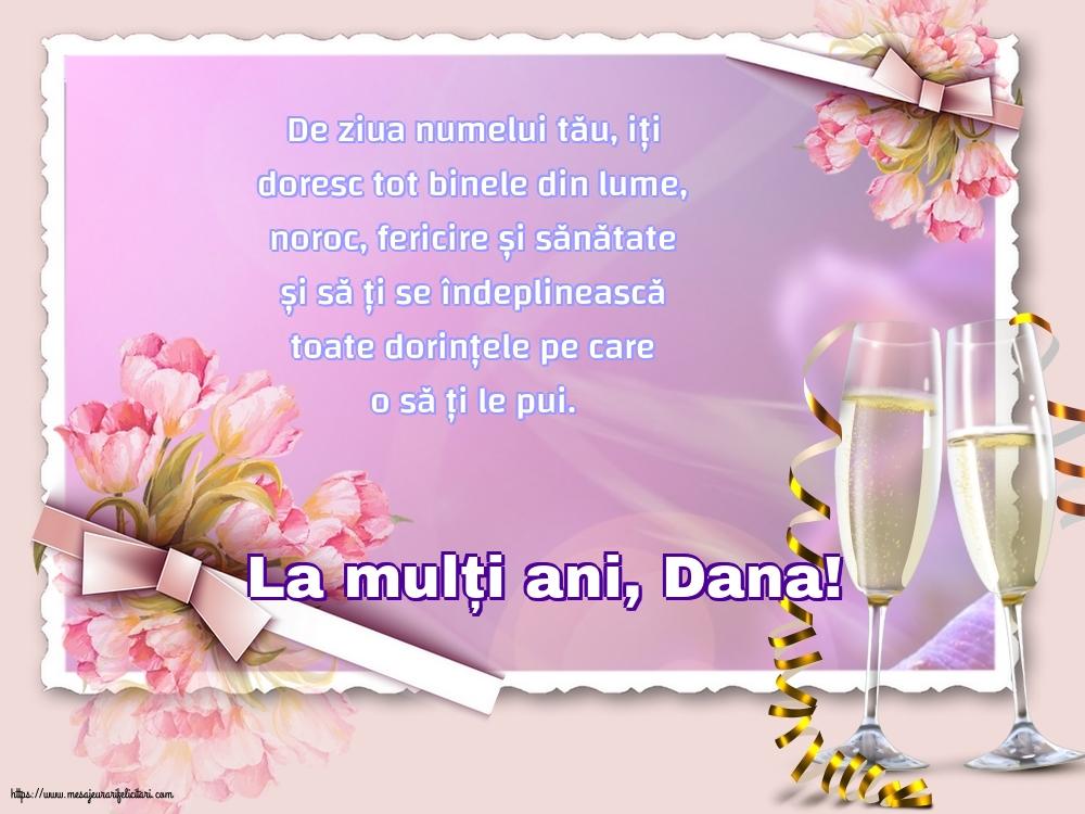 Felicitari de Sfantul Daniel - La mulți ani, Dana!