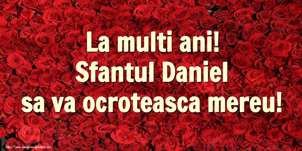 Felicitari de Sfantul Daniel - La multi ani! Sfantul Daniel sa va ocroteasca mereu!