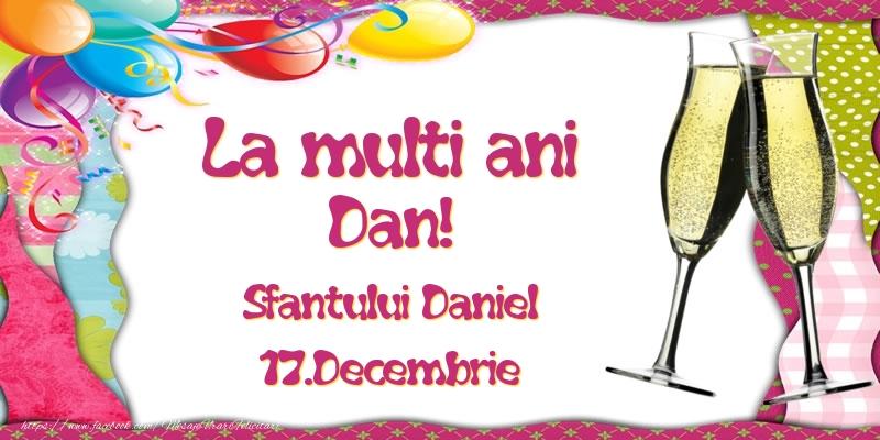 Felicitari de Sfantul Daniel - La multi ani, Dan! Sfantului Daniel - 17.Decembrie