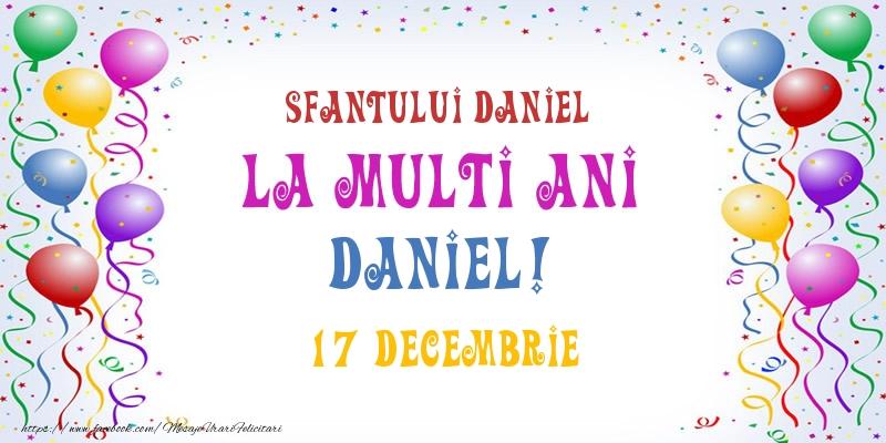 Felicitari de Sfantul Daniel - La multi ani Daniel! 17 Decembrie