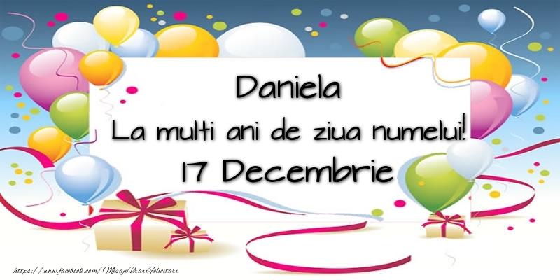 Felicitari de Sfantul Daniel - Daniela, La multi ani de ziua numelui! 17 Decembrie