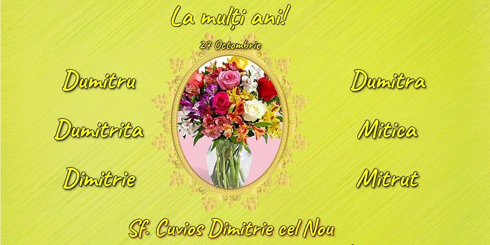 Felicitari de Sfântul Dimitrie cel Nou - 27 Octombrie - Sf. Cuvios Dimitrie cel Nou