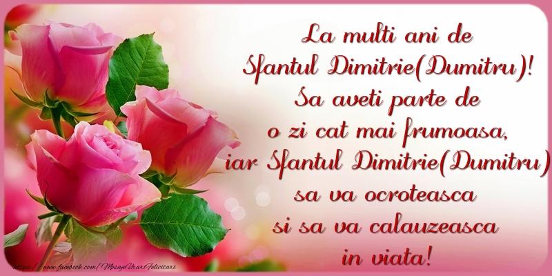 Felicitari de Sfantul Dumitru - La multi ani de Sfantul Dimitrie(Dumitru)