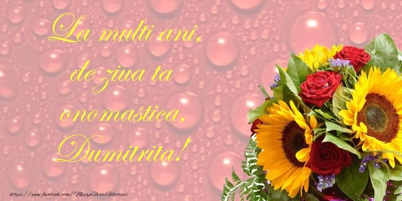 Felicitari de Sfantul Dumitru - La multi ani, de ziua ta onomastica, Dumitrita