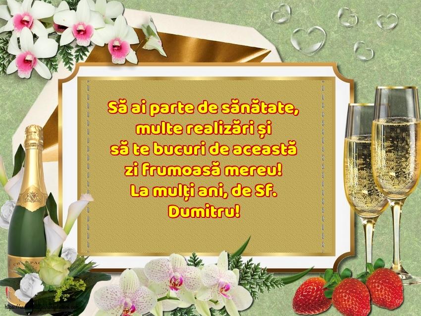La mulți ani, de Sf. Dumitru!