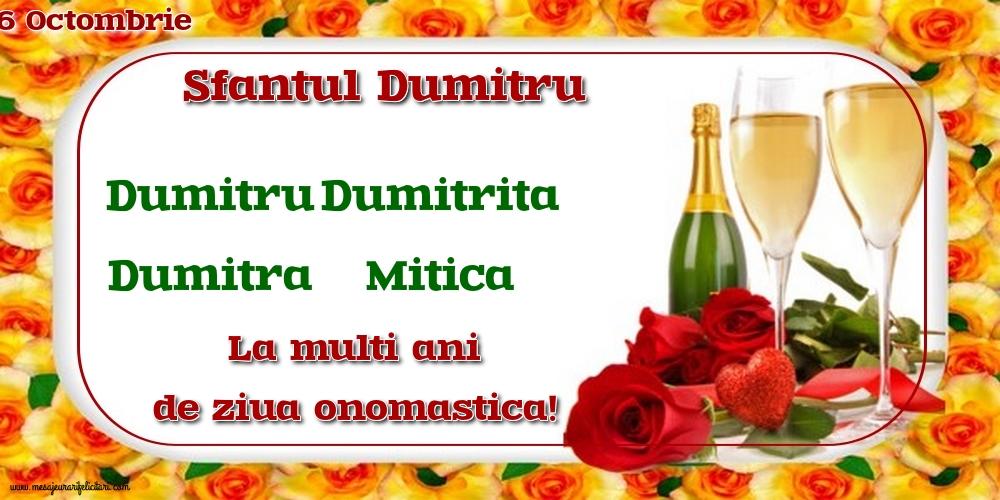 Felicitari de Sfantul Dumitru - 26 Octombrie - Sfantul Dumitru