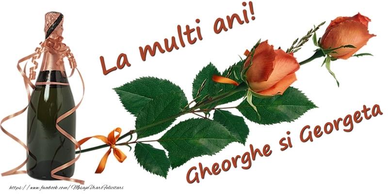 Felicitari de Sfantul Gheorghe - La multi ani! Gheorghe si Georgeta