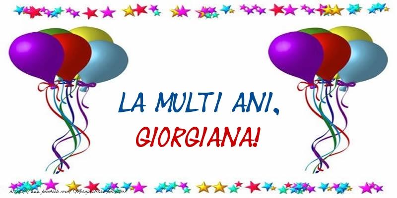 Felicitari de Sfantul Gheorghe - La multi ani, Giorgiana!