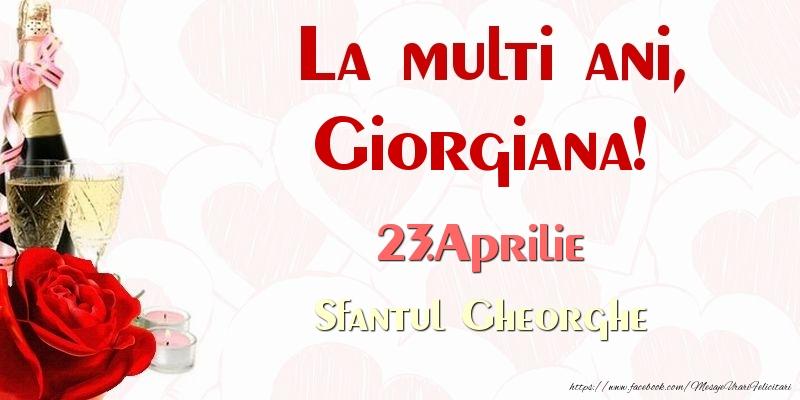 Felicitari de Sfantul Gheorghe - La multi ani, Giorgiana! 23.Aprilie Sfantul Gheorghe