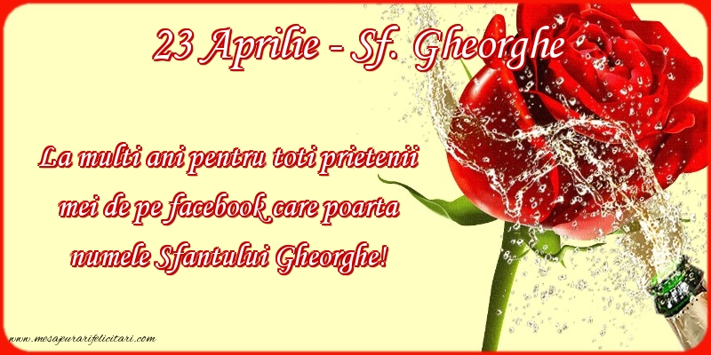 Felicitari de Sfantul Gheorghe - La multi ani de Sfantul Gheorghe!
