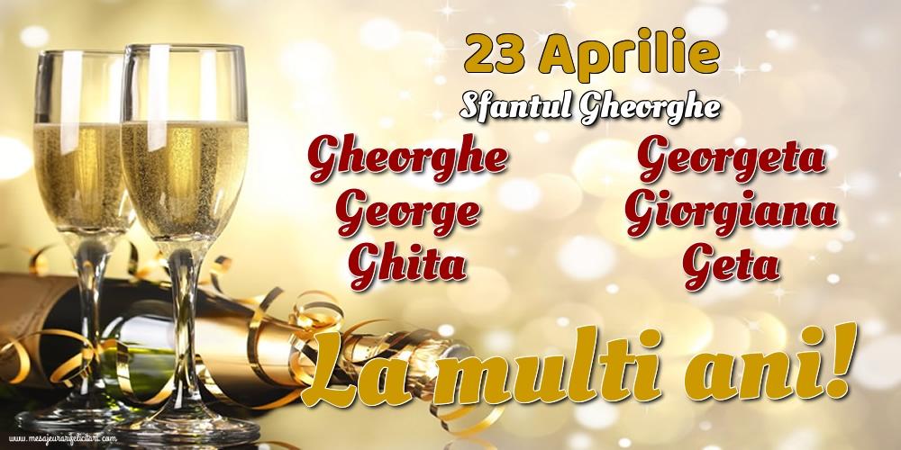Felicitari de Sfantul Gheorghe cu sampanie - 23 Aprilie - Sfantul Gheorghe