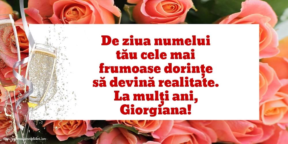Cele mai apreciate felicitari de Sfantul Gheorghe cu mesaje - La mulți ani, Giorgiana!