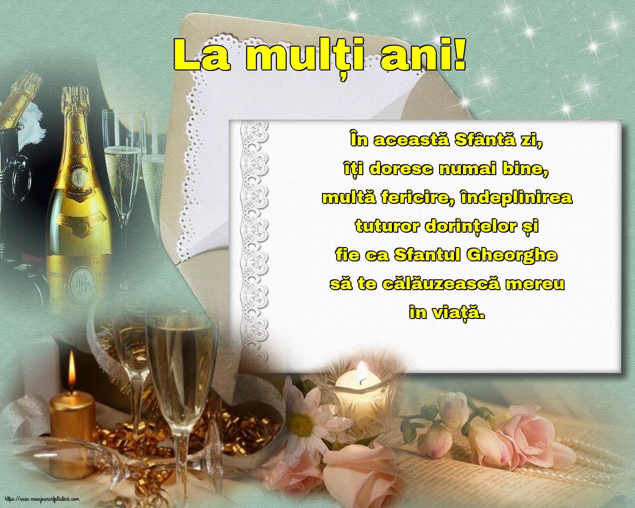 Cele mai apreciate felicitari de Sfantul Gheorghe cu mesaje - La mulți ani!
