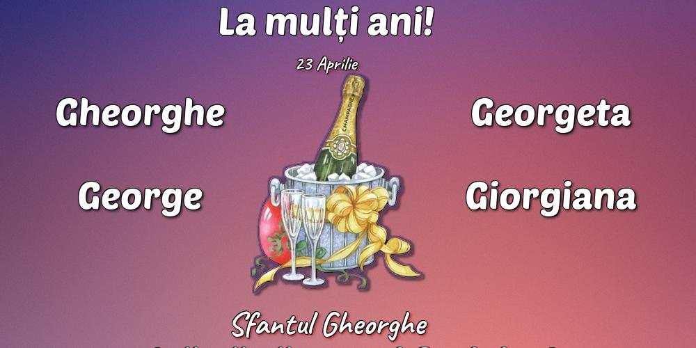 Cele mai apreciate felicitari de Sfantul Gheorghe cu sampanie - 23 Aprilie - Sfantul Gheorghe