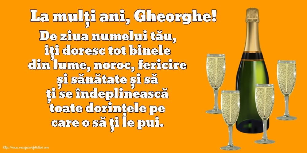 Felicitari de Sfantul Gheorghe cu mesaje - La mulți ani, Gheorghe!