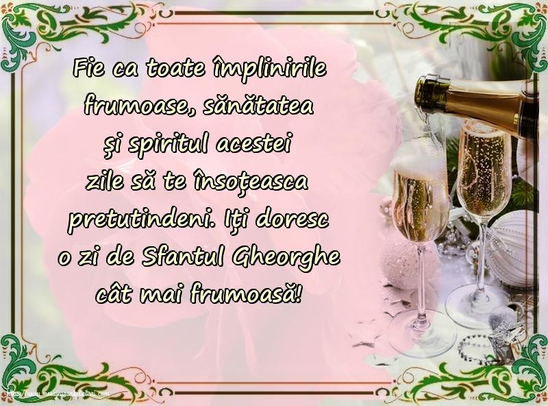 Felicitari de Sfantul Gheorghe cu mesaje - Iți doresc o zi de Sfantul Gheorghe cât mai frumoasă!