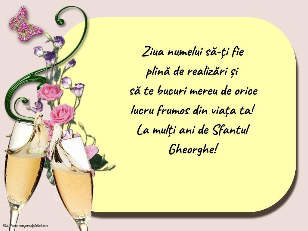 Felicitari de Sfantul Gheorghe - La mulți ani de Sfantul Gheorghe! - mesajeurarifelicitari.com