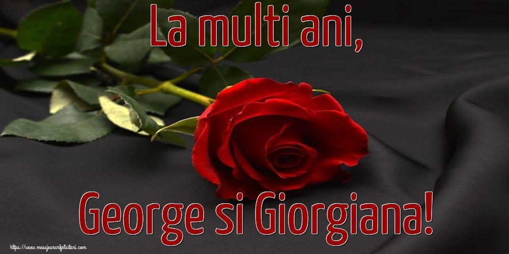 Felicitari de Sfantul Gheorghe cu flori - La multi ani, George si Giorgiana!
