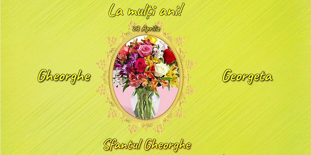 Felicitari de Sfantul Gheorghe cu flori - 23 Aprilie - Sfantul Gheorghe