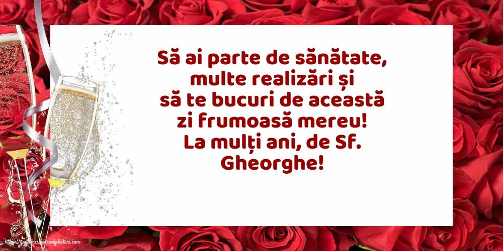 Felicitari de Sfantul Gheorghe cu mesaje - La mulți ani, de Sf. Gheorghe!