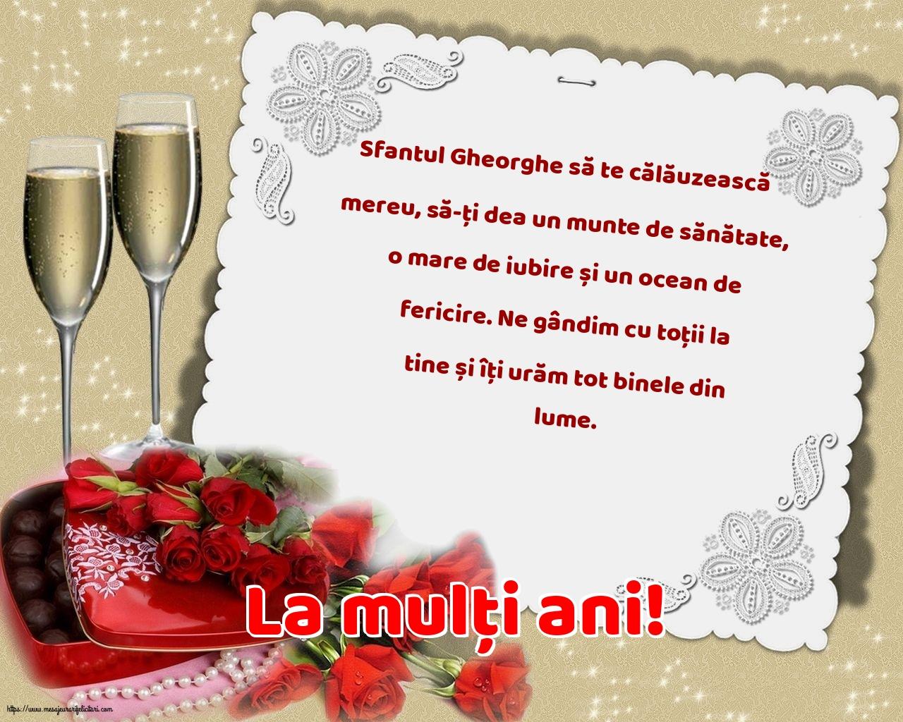 Felicitari de Sfantul Gheorghe cu mesaje - La mulți ani!