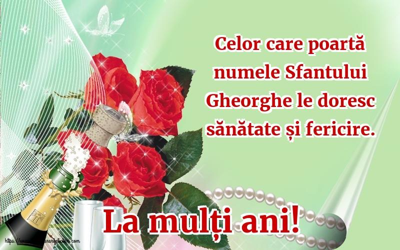 Felicitari de Sfantul Gheorghe - La mulți ani! - mesajeurarifelicitari.com
