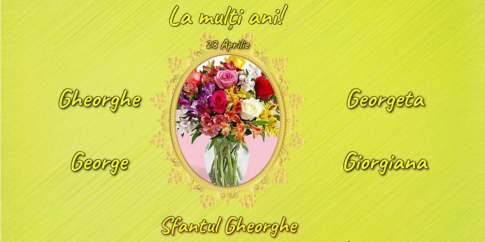 Cele mai apreciate felicitari de Sfantul Gheorghe cu flori - 23 Aprilie - Sfantul Gheorghe