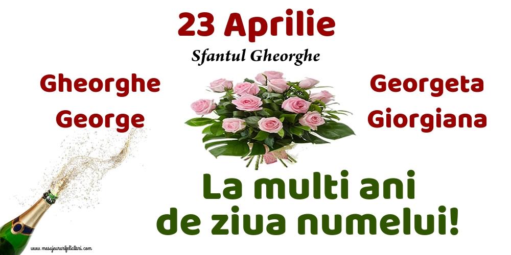 Felicitari de Sfantul Gheorghe - 23 Aprilie - Sfantul Gheorghe - mesajeurarifelicitari.com