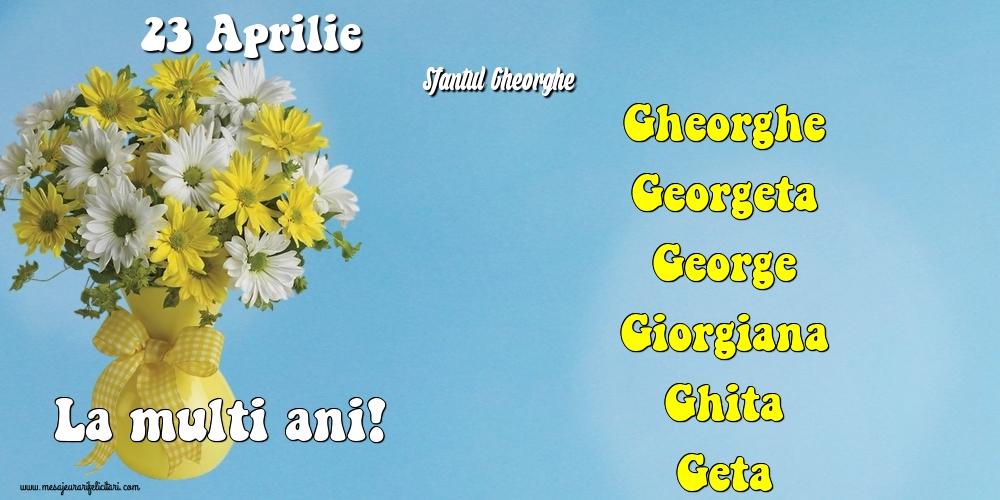 Felicitari de Sfantul Gheorghe - 23 Aprilie - Sfantul Gheorghe