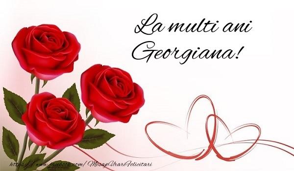 Sfantul Gheorghe La multi ani Georgiana!