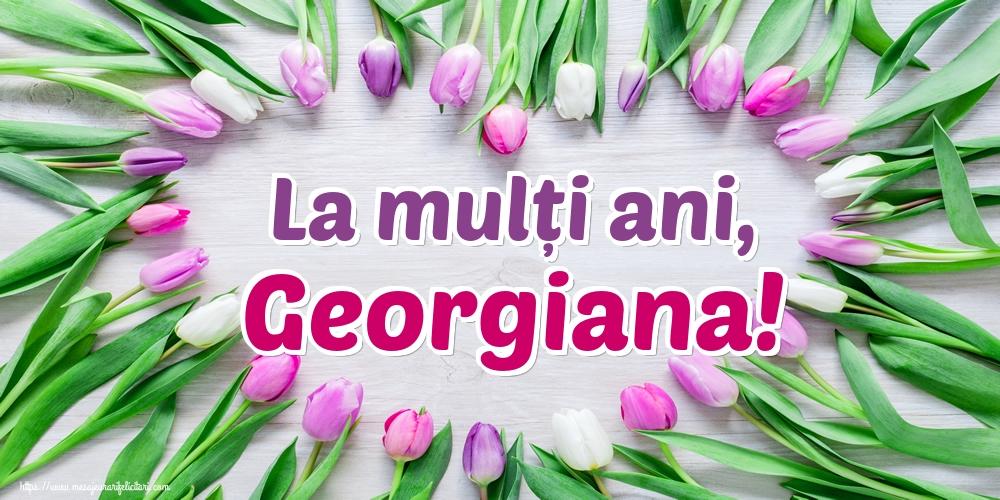 Felicitari de Sfantul Gheorghe - La mulți ani, Georgiana!
