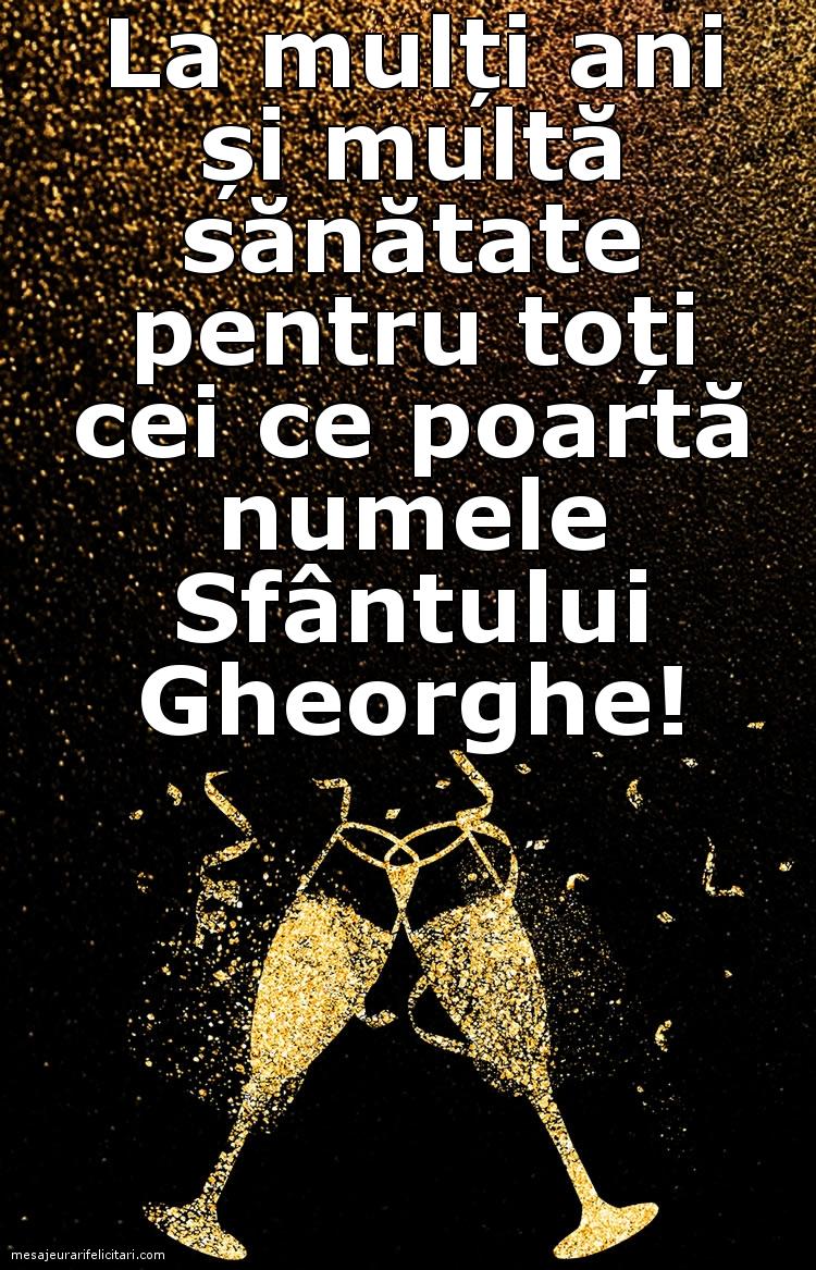Felicitari de Sfantul Gheorghe - La mulți ani de Sf. Gheorghe!