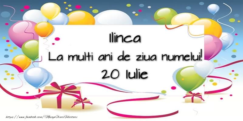 Felicitari de Sfantul Ilie - Ilinca, La multi ani de ziua numelui! 20 Iulie