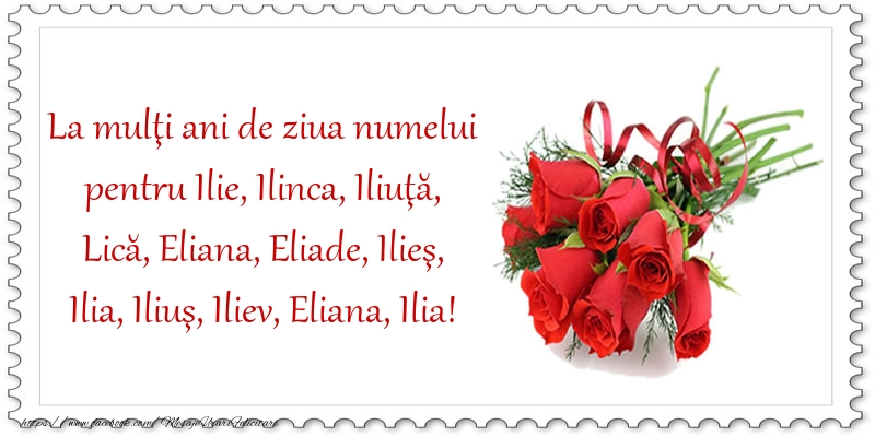Felicitari de Sfantul Ilie - La mulţi ani de ziua numelui