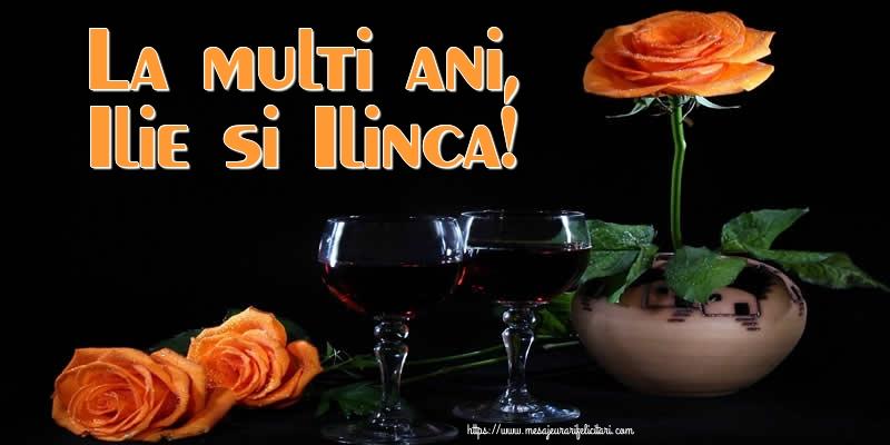 Felicitari de Sfantul Ilie cu flori - La multi ani, Ilie si Ilinca!