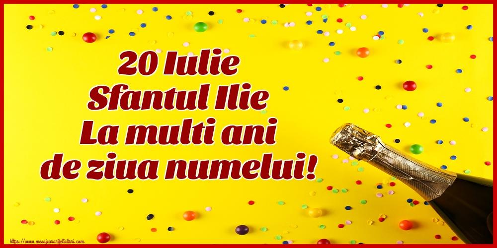 Felicitari de Sfantul Ilie cu sampanie - 20 Iulie Sfantul Ilie La multi ani de ziua numelui!