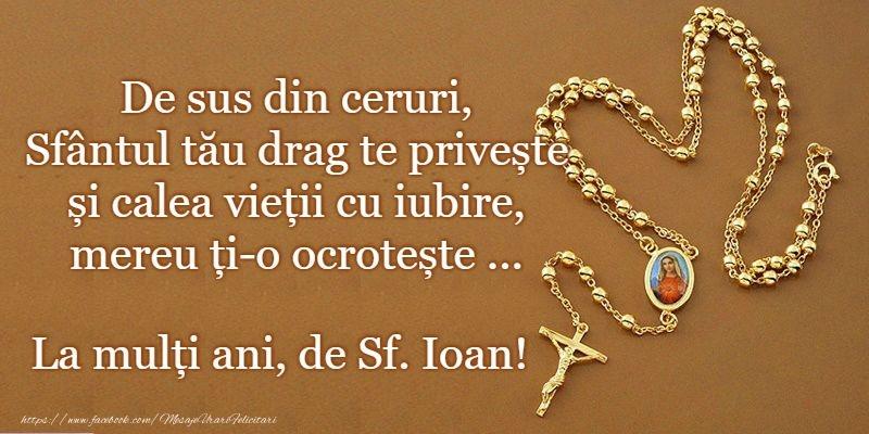 Felicitari de Sfantul Ioan - La multi ani de Sfantul Ioan!